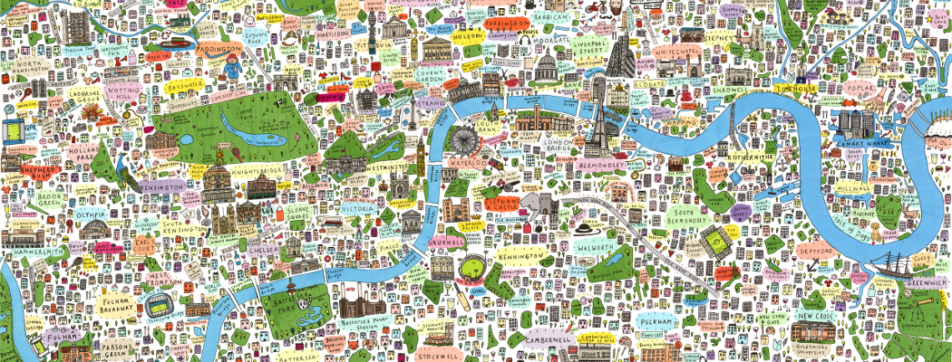 New Illustrated Map of London
