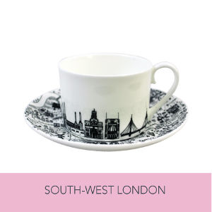 South-West London Teacup and Saucer Set by House of Cally