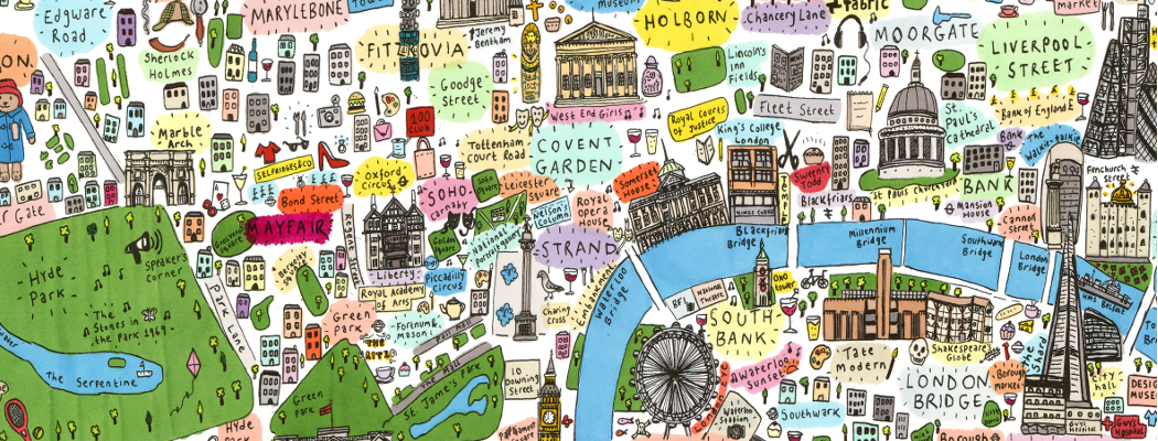 Maps Update 16001127 Map of Central London Landmarks London – Map of Central London Areas
