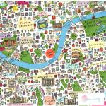 New Illustrated Map of Southwest London