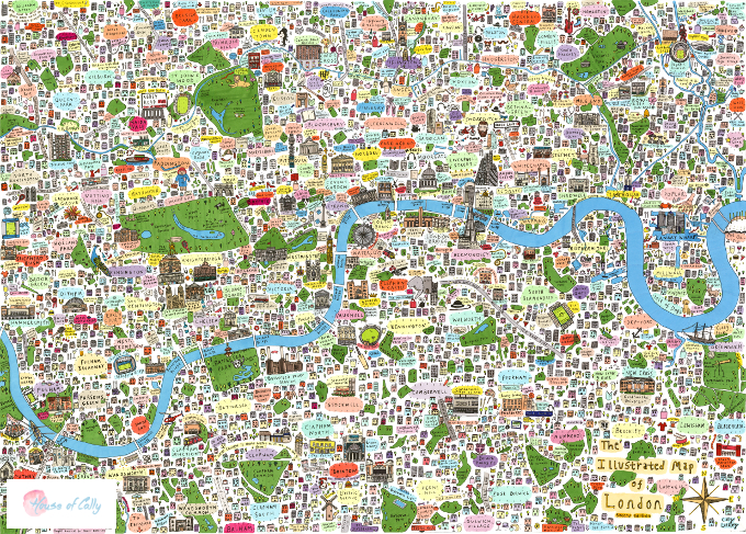 Illustrated Map of London as seen in Time Out