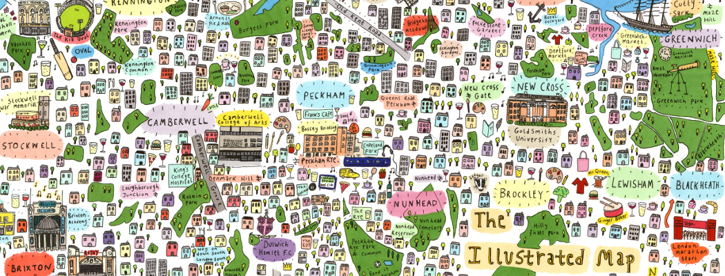 Illustrated Map of Southeast London