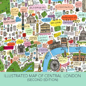 Illustrated Map of Central London by House of Cally