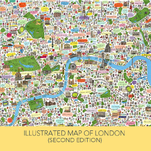 Illustrated Map of London by House of Cally