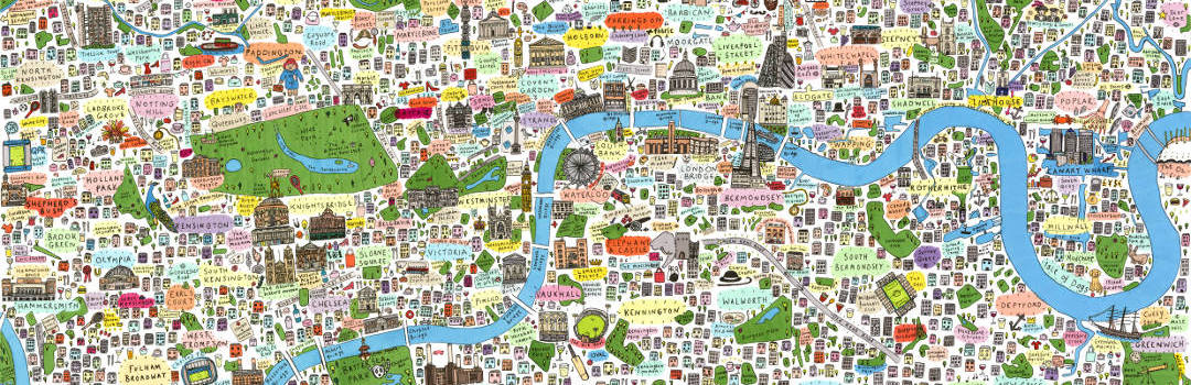 House of Cally Handdrawn Illustrated Maps of London by Cally Lathey