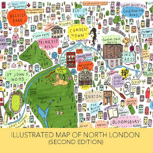 Illustrated Map of North London by House of Cally