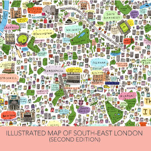 Illustrated Map of South-East London by House of Cally
