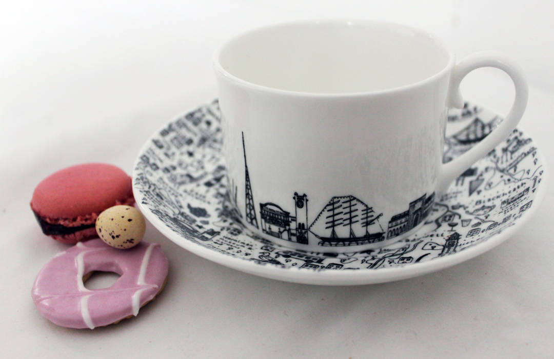 South-East London Teacup and Saucer Set by House of Cally