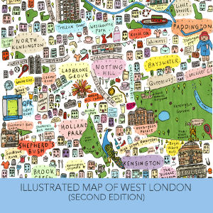 Illustrated Map of West London by House of Cally
