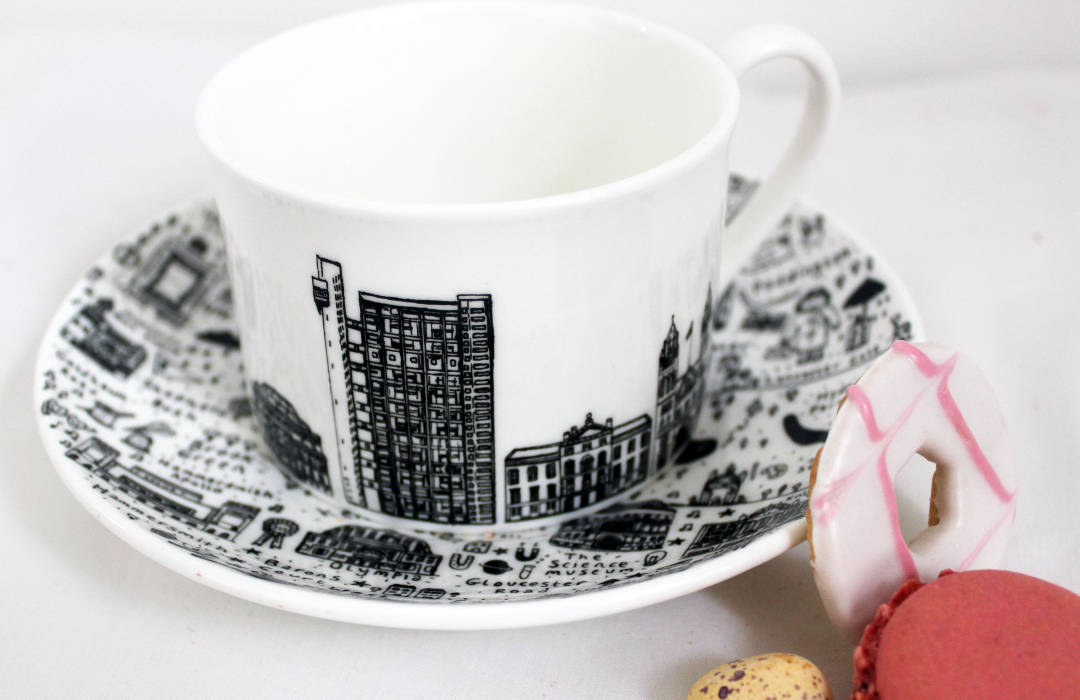 West London Teacup and Saucer Set by House of Cally