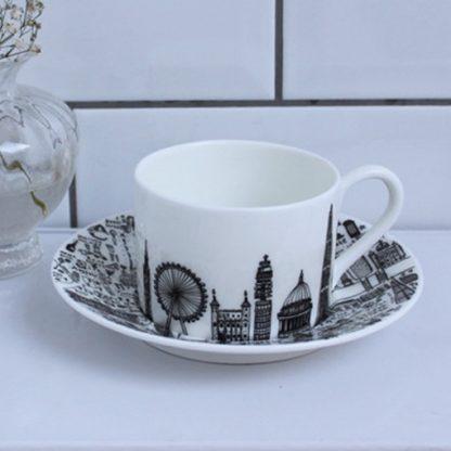 Central London Teacup and Saucer Set