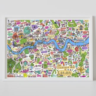 First edition Illustrated Map of London A0