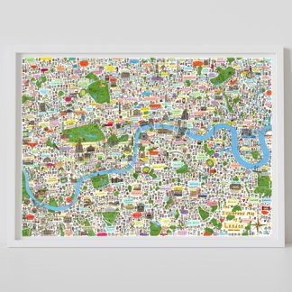 Illlustrated Map of London second edition A0