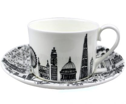 Central London Teacup and Saucer Set by House of Cally