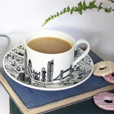 East London teacup and saucer set