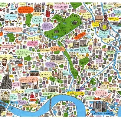 House Of Cally Illustrated Map Of North London By House Of Cally - Map of north london areas