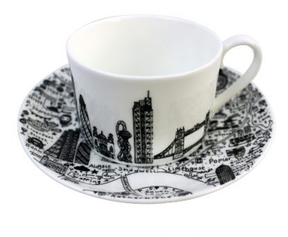 East London Teacup and Saucer Set by House of Cally