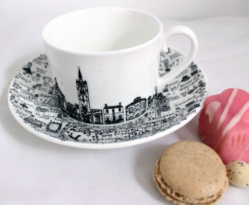 North London Teacup and Saucer Set by House of Cally