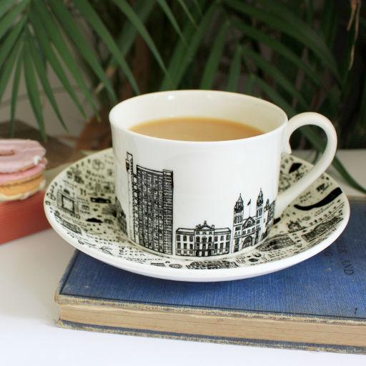 West London teacup and saucer set