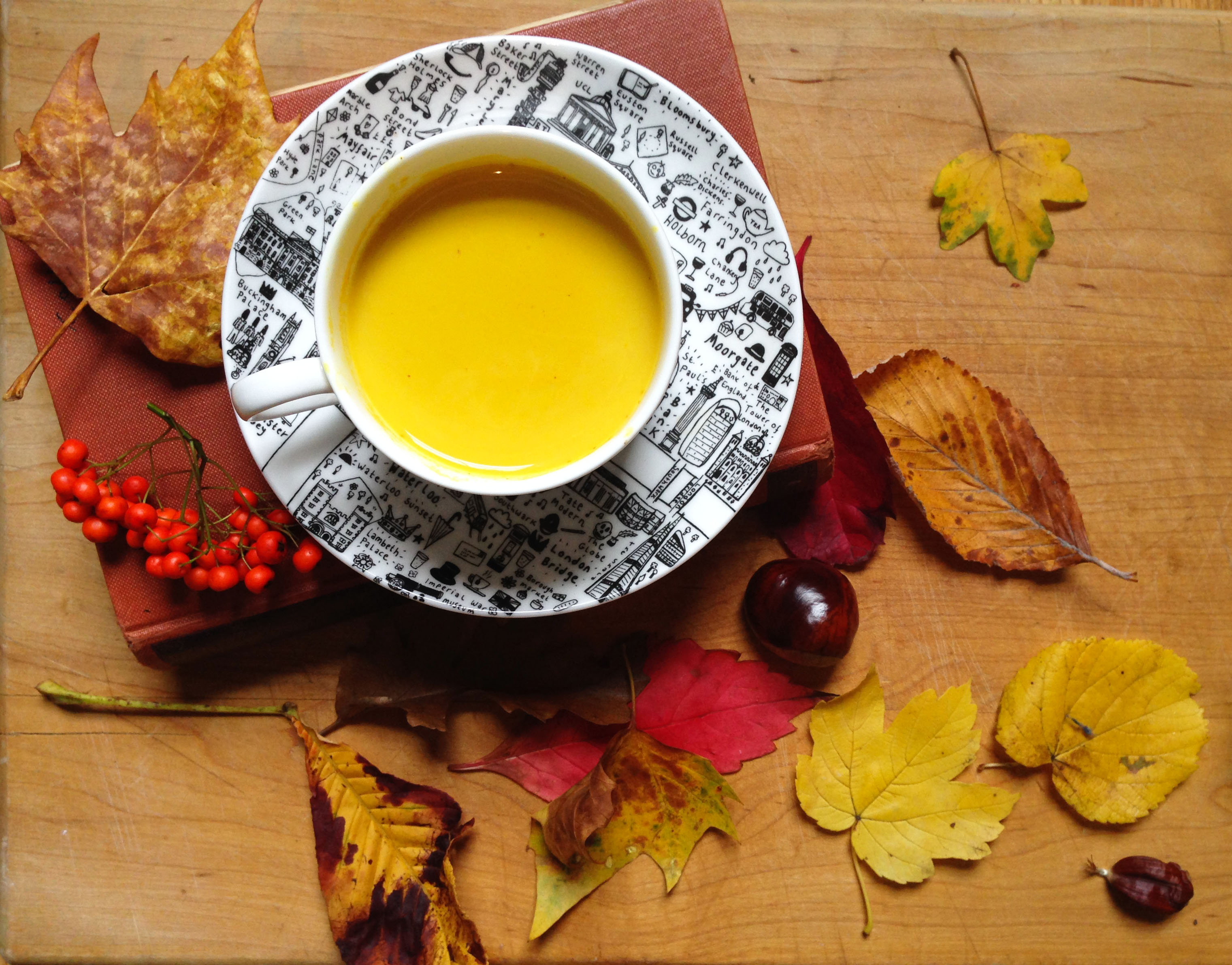 Warming turmeric milk recipe