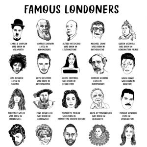 Famous Londoners Tea Towel by House of Cally