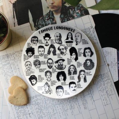 Famous Londoners side plate by House of Cally