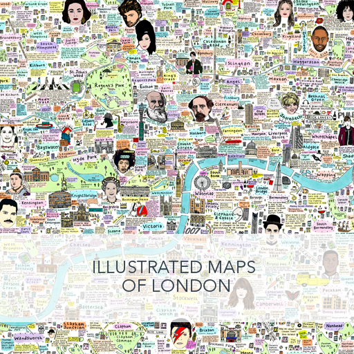 Illustrated Maps of London by House of Cally