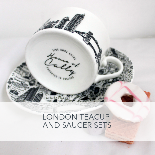 London Teacup and Saucer Sets by House of Cally