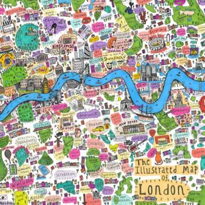 First Edition Illustrated Map of London by House of Cally
