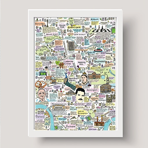 Illustrated Map of West London History and Culture