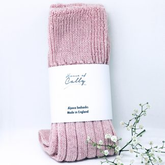 Alpaca Wool Socks (Dusty Pink) by House of Cally