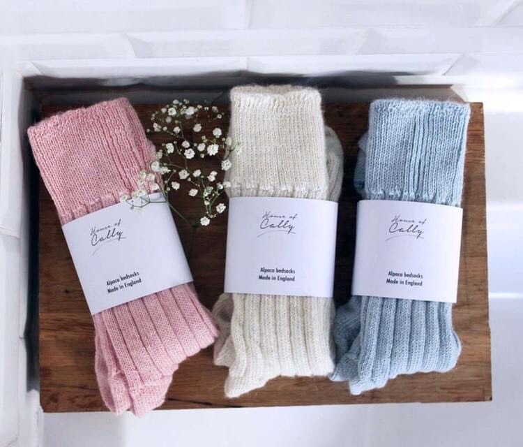 Alpaca Wool Bedsocks by House of Cally