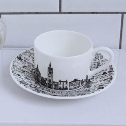 North London Teacup and Saucer Set