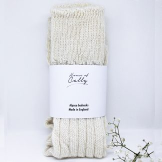 Alpaca Wool Bedsocks (ecru) by House of Cally