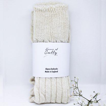 Alpaca Wool Bedsocks (ecru) by House of Cally