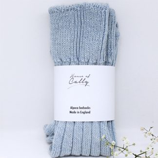Alpaca wool bedsocks (soft blue) by House of Cally