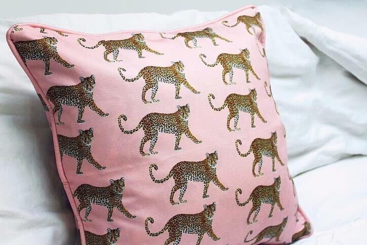 Roaming Leopards. New cushion cover design by House of Cally