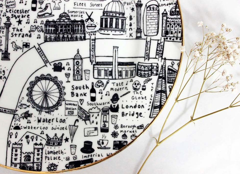 Central London Side Plates by House of Cally