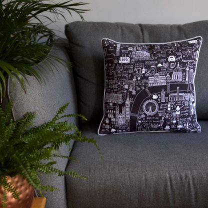London Map Cushion Covers by House of Cally