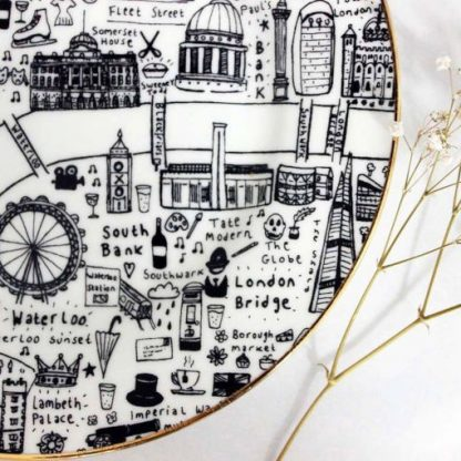 Special edition Central London side plate by House of Cally