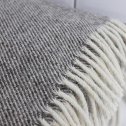Grey Wool Snuggle Blanket
