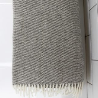 Grey Wool Snuggle Blanket
