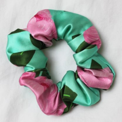 Floral Silk Hair Scrunchies from House of Cally