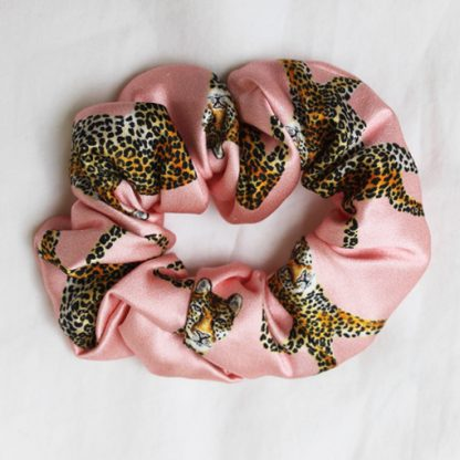 Roaming Leopard Silk Hair Scrunchies from House of Cally