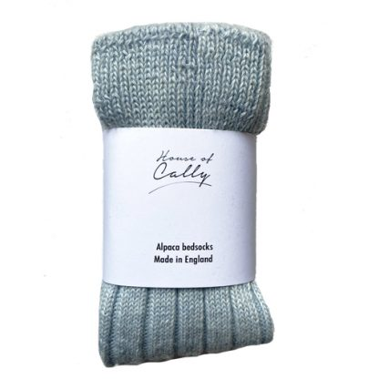 Soft Blue Alpaca Wool Bed socks by House of Cally