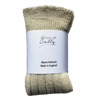 Ecru Alpaca Wool Bed socks by House of Cally