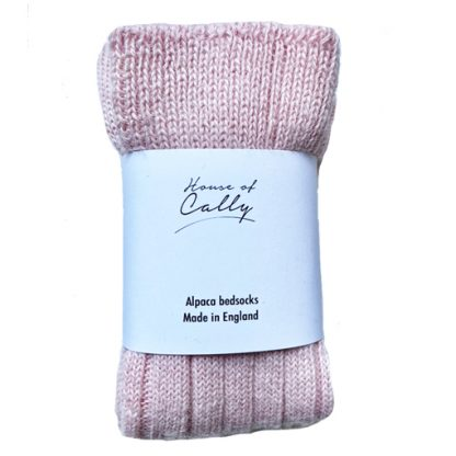 Dusty Pink Alpaca Wool Bed socks by House of Cally
